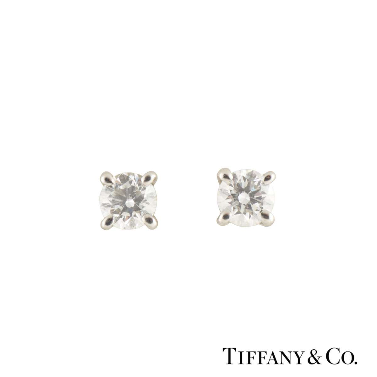 Tiffany & Co. Solitaire Diamond Earrings 0.34ct G/VS